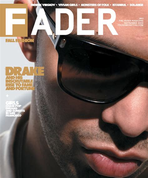 Drake Makes Front Cover Of Fader Magazine  Young Money Hq