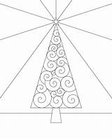 Tree Coloring Trees Winter Outline Cp Xmas Swirly Bigger Version sketch template
