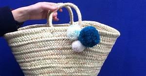 Panier A Pompon : faire un pompon pour customiser un panier en osier marie claire ~ Teatrodelosmanantiales.com Idées de Décoration