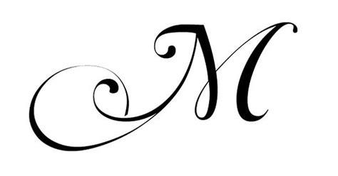 Fancy Cursive Letter M