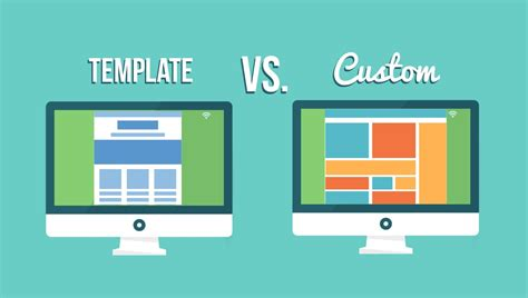 vs template template website design vs custom website design