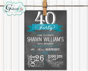 40th birthday invitation surprise birthday by gracenldesigns