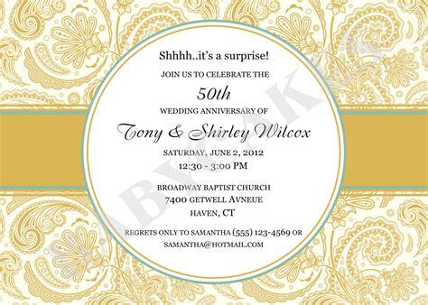 50th anniversary invitations templates 50th anniversary invitations template best template collection