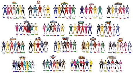The Main Historic Rangers By Camilosama On Deviantart