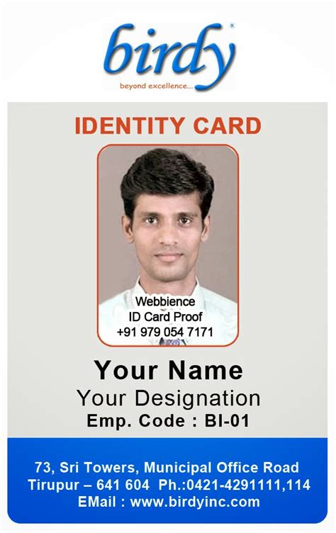 id card coimbatore ph   vertical employee
