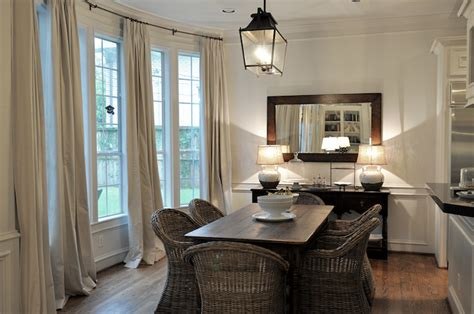 Wicker Dining Chairs-transitional-dining Room-cote