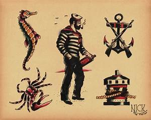 sailor old school tattoos | Old School Tattoo | Pinterest