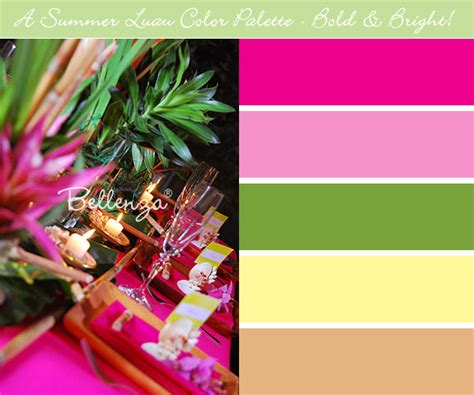 summer color palettes  outdoor weddings