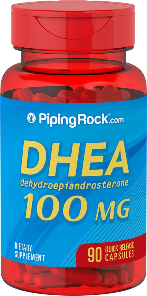 DHEA 100 mg 90 Capsules | Piping Rock Health Products