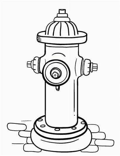 Hydrant Fire Coloring Pages Extinguisher Printable Drawing
