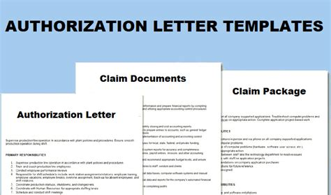 authorization letter  claim topics  business