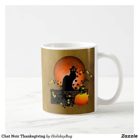 Comfortable and stylish decor and super friendly staff. Chat Noir Thanksgiving Coffee Mug | Zazzle.com | Coffee mugs, Orange moon, Mugs
