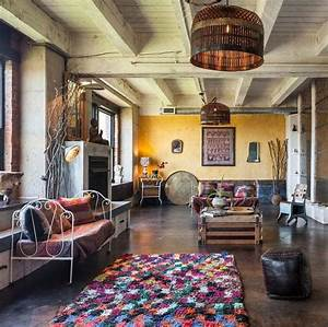Bunter Teppich Darf Beim Bohemian Style Nicht Fehlen