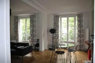 plan de chambre avec dressing et salle de bain appartement haussmannien architecture intérieure