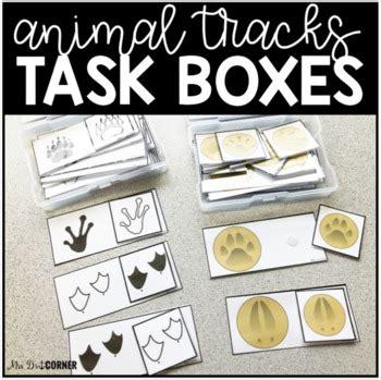 animal tracks task boxes  versions task boxes