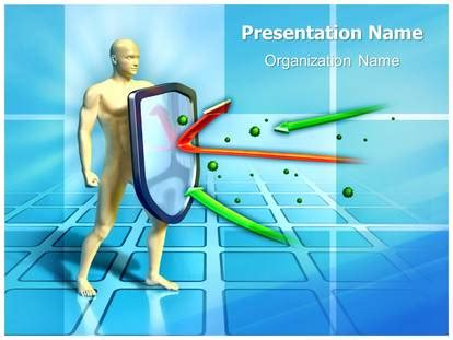 immune system powerpoint template background