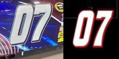 nascar number team fonts images nascar race car