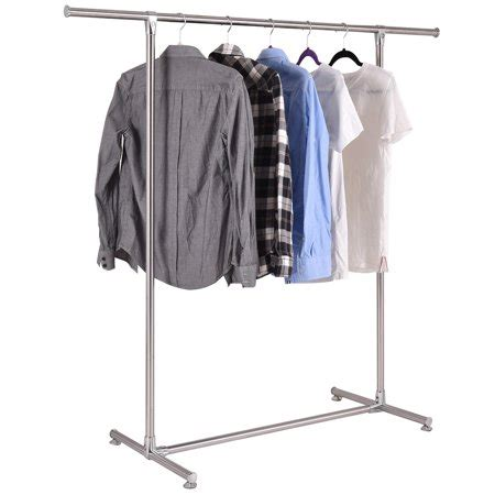 clothes hanging rack walmart costway heavy duty stainless steel garment rack clothes