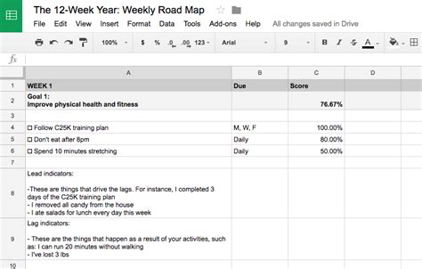 12 week year templates how to squeeze a year out of 12 weeks