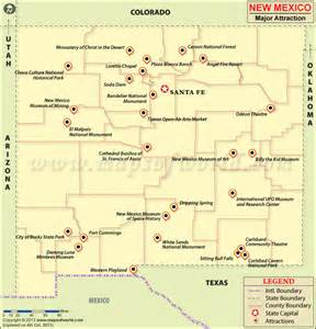 New Mexico Tourist Attractions Map