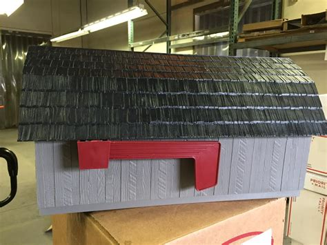 Gray Barn by Gray Barn Mailbox