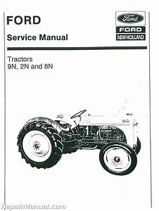 Ford 2n 8n And 9n Tractor Service Manual   Js