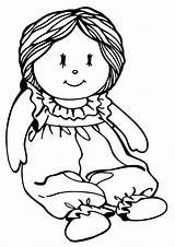 Doll Coloring Baby Pages Print sketch template
