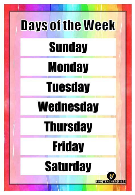 days   week  months   year chart fun