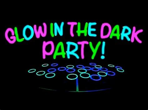 Image result for glow out party