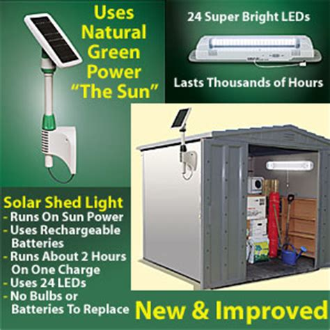 outdoor solar powered shed light yard garden buy it now