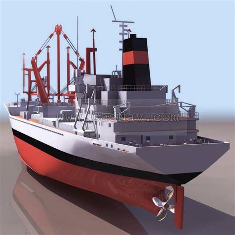 bahrain cargo ship  model ds maxds files   modeling   cadnav