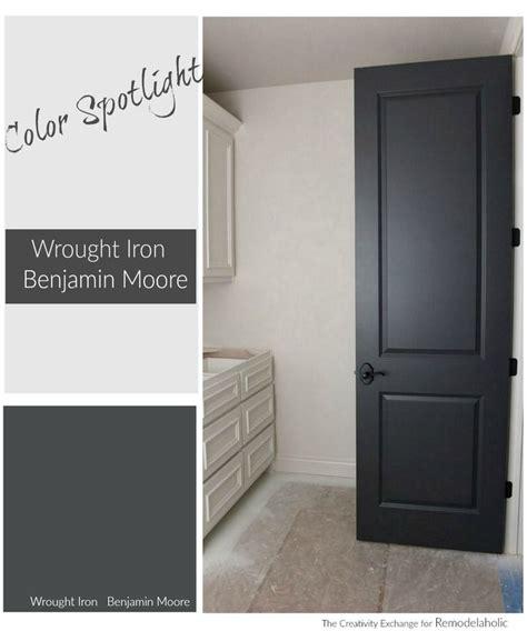paint color spotlight benjamin wrought iron this