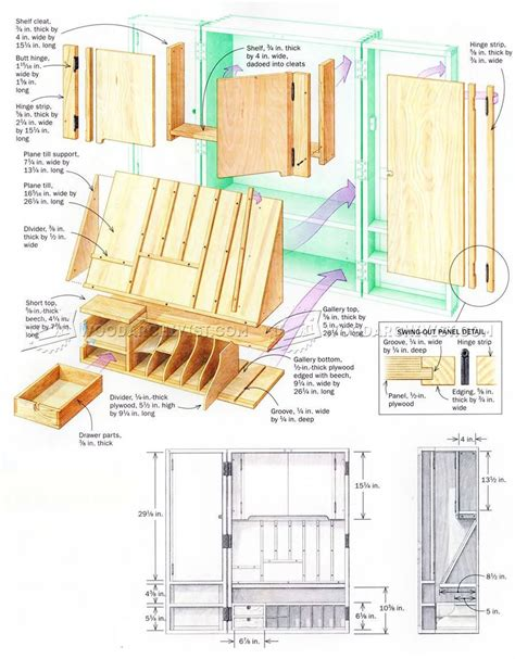 hand tool wall cabinet plans workshop solutions