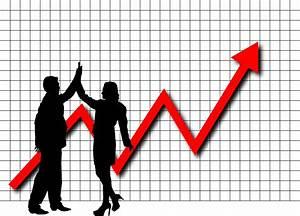 Clipart - Profit High Five Graph