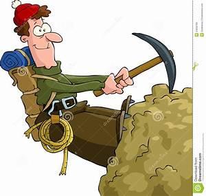 Mountaineer stock vector. Image of adult, human, vector ...
