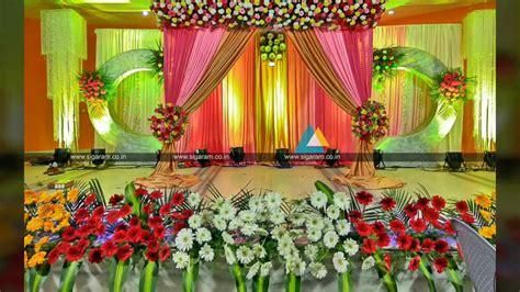 valaikappu stage decoration  jayaram hotel pondicherry