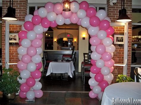 pink and white balloon decorations balloons nj balloon decorations 732 341 5606