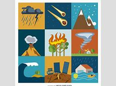 Disaster And Crisis Flat Icon Set Free Vector Download