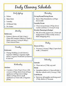 printable house cleaning checklist template search With domestic cleaning schedule template