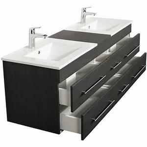 meuble salle de bain double vasque roma xl charbon antique With meuble salle de bain roma