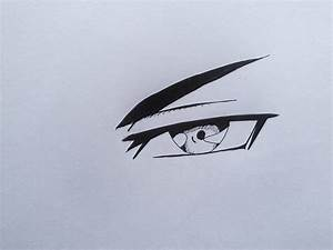 How To Draw Evil Anime Eye - YouTube