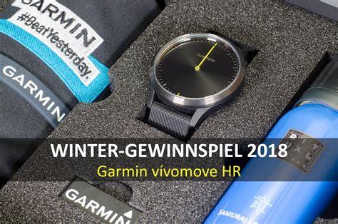 garmin vivomove hr test winter gewinnspiel 2018 gewinne eine garmin v 237 vomove hr