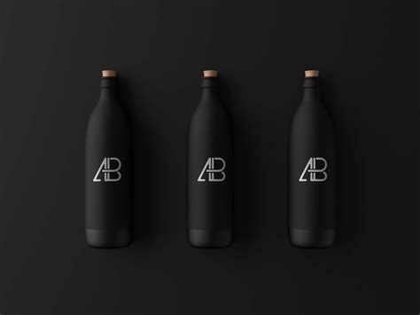 Your resource to discover and connect with designers worldwide. Free Matte Black Bottle Mockup (PSD)