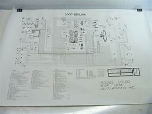 Alfa Romeo Wiring Diagram O E M  2000 Berlina 1974 Model