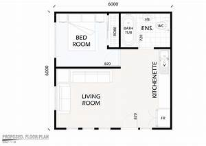 cost of building a 2 bedroom granny flat in south africa With 1 bedroom floor plan granny flat