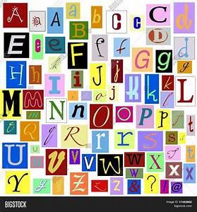Alphabet magazine letters isolated image photo bigstock for Alphabet photo letters