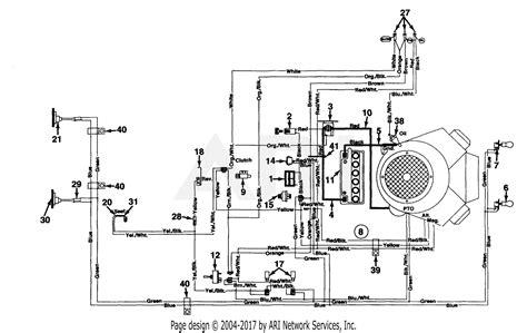 mtd uh garden tractor gt   parts diagram