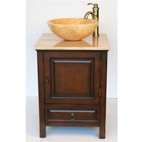 small vessel sink vanity travertine sink