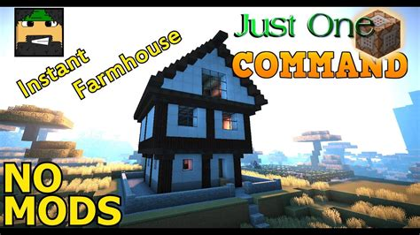 Modernes Haus Minecraft Command by Instant Farmhouse In Vanilla Minecraft Just One Command