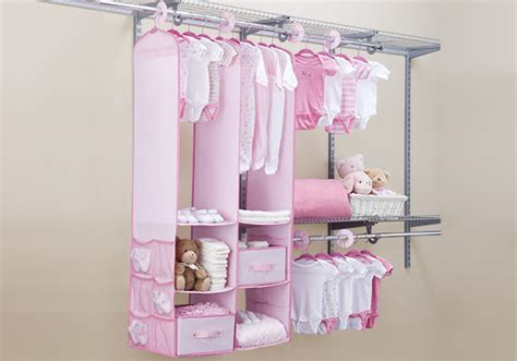 Small Bedroom With Hanging Nursery Closet Organizer White
